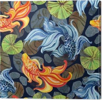 Leinwandbild Aquarell asiatische Goldfische