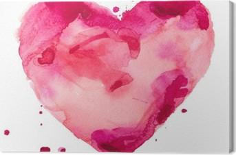 Leinwandbild Aquarell Herzen. Concept - Liebe, Beziehung, Kunst, Malerei