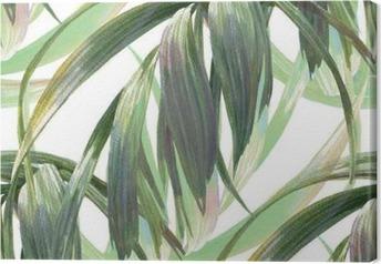 Leinwandbild Aquarell-Illustration Blatt, nahtlose Muster auf weißen Hintergrund