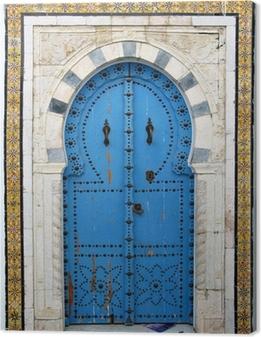 Leinwandbild Arabische Tür