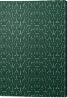 Leinwandbild Art-Deco-Blatt-Muster