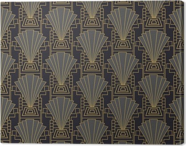 Leinwandbild Art Deco Tapete oder Vorlage. Art Deco Rahmen ...
