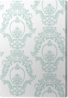 Leinwandbild Artvektorverzierungsimperialart der Vektorweinlese. verziertes Blumenelement für Gewebe, Gewebe, Design, Hochzeitseinladungen, Grußkarten, Tapete. opalblaue Farbe