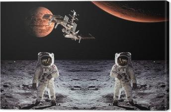 Leinwandbild Astronauten Raumfahrer-Mond-Planeten
