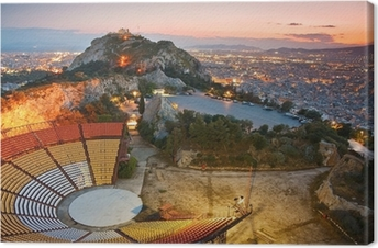 Leinwandbild Athen bei Sonnenuntergang von Likabetus Hill.