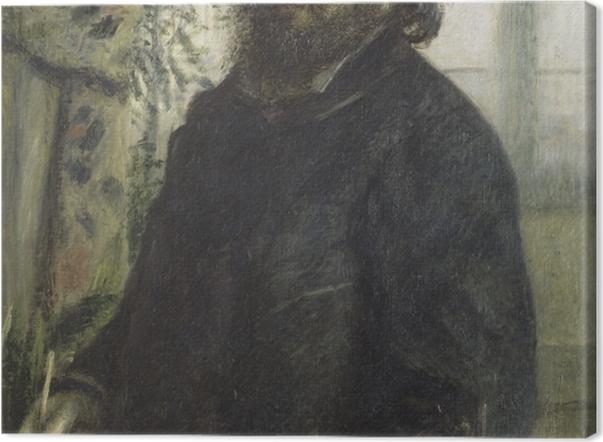 Leinwandbild Auguste Renoir - Porträt des Malers Claude Monet - Reproductions