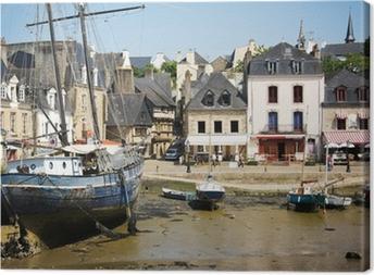 Leinwandbild Auray - Le Port de Saint-Goustan (Morbihan, Bretagne))