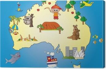 Leinwandbild Australia Map
