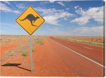 Leinwandbild Australian endlosen Straßen