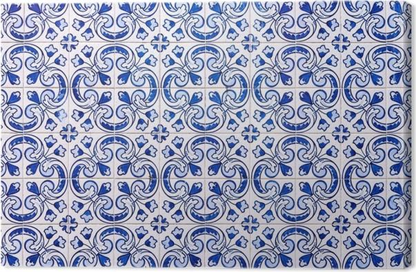 Leinwandbild Azulejos Traditionelle Portugiesische Fliesen Pixers - Portugiesische fliesen bilder