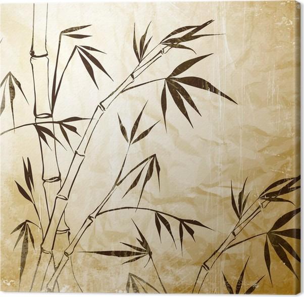 Leinwandbild Bamboo Malerei