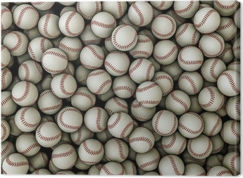Leinwandbild Baseballs Hintergrund