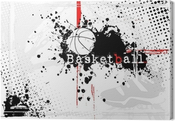 Leinwandbild Basketball Hintergrund