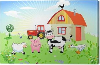 Leinwandbild Bauernhof-Tiere