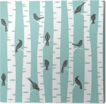 Leinwandbild Bäume Muster