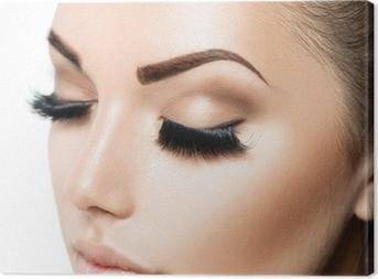Leinwandbild Beauty Gesicht Make-up. Beauty Mädchen mit perfekter Haut