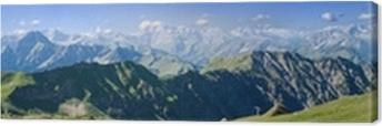 Leinwandbild Berge - Allgäu - Nebelhorn