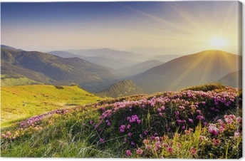 Leinwandbild Berglandschaft