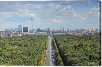 Leinwandbild Berlin-Skyline mit Tiergarten