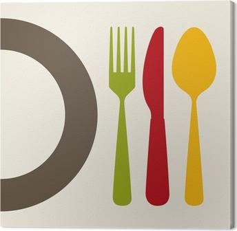 Leinwandbild Besteckdesign