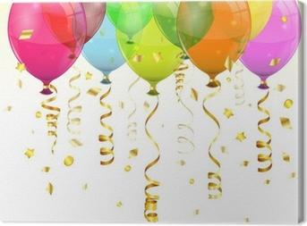 Leinwandbild Birthday Balloons