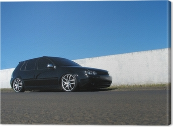 Leinwandbild Black car