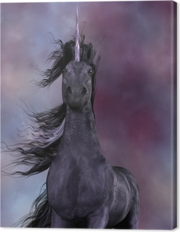Leinwandbild Black Unicorn