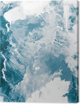 Leinwandbild Blau Marmor Textur
