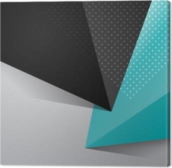 Leinwandbild Blau und Schwarz abstrakten Design Hintergrund