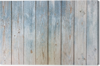 Leinwandbild Blau Vintage-Holz-Hintergrund