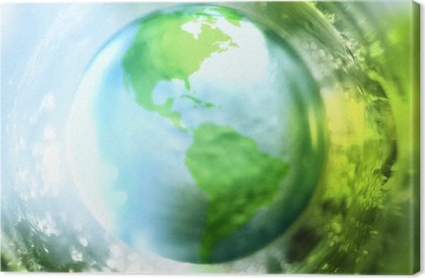 Leinwandbild Blaue Und Grüne Erde Hintergrund