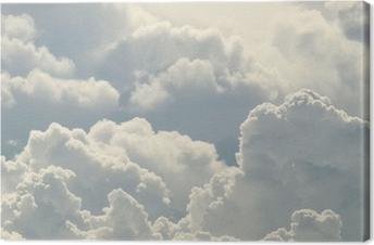 Leinwandbild Blauer Himmel und schönen Wolken