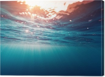 Leinwandbild Blaues Meer