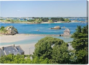 Leinwandbild Blick auf Archipels Bréhat und Ile de Brehat in der Bretagne