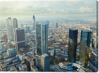 Leinwandbild Blick auf die Frankfurter Hochhäuser