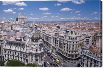 Leinwandbild Blick auf die Gran Via von Madrid (Spanien)