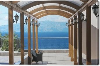 Leinwandbild Blick auf die Insel Gomera