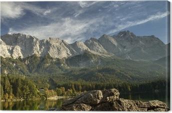 Leinwandbild Blick vom Eibsee zur Zugspitze
