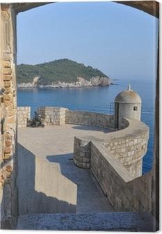 Leinwandbild Blick von der Stadtmauer von Dubrovnik