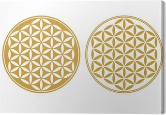 Leinwandbild Blume des Lebens - Schutz Symbol, Heilige Geometrie