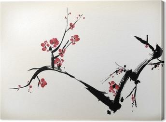 Leinwandbild Blütenmalerei