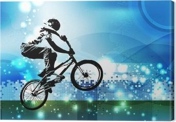 Leinwandbild BMX-Biker