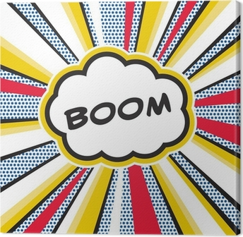 Leinwandbild Boom Pop Art