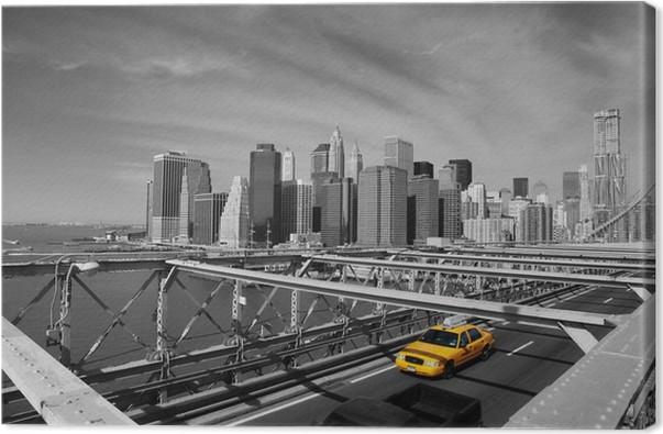 New York Leinwandbild ~ Leinwandbild brooklyn bridge taxi new york u2022 pixers® wir leben