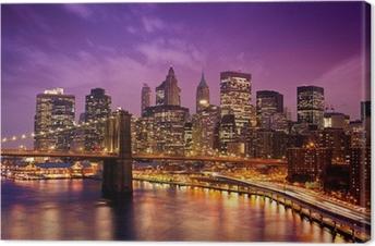 Leinwandbild Brooklyn Bridge über Manhattan