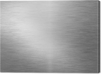 Leinwandbild Brushed Metallplatte
