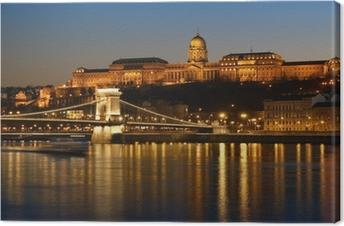 Leinwandbild Budapest bei Nacht.
