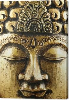 Leinwandbild Buddha Gold Hintergrund