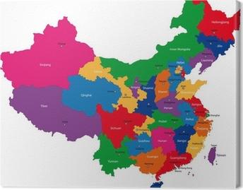 Leinwandbild China State map vector tag cloud illustration • Pixers on