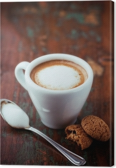 Leinwandbild Cafe Macchiato (Espresso mit etwas Milch)